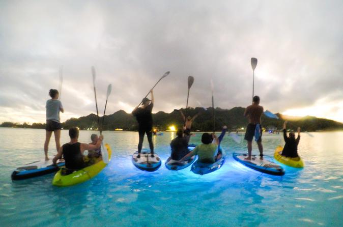 Fire On Water Night Paddling Tour In Rarotonga-Kayak
