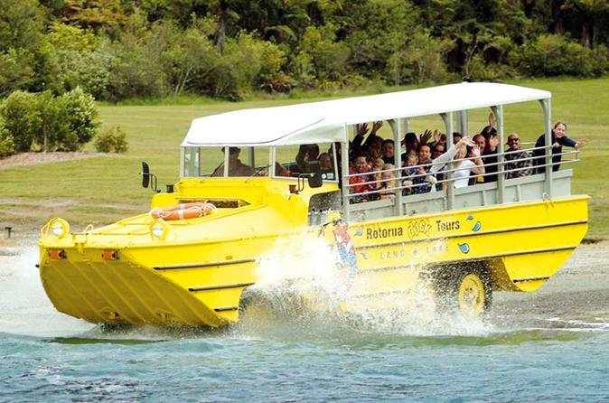 Rotorua duck tours city and lakes tour in rotorua 155155