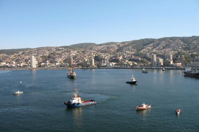 Valparaiso como um local: excursão a pé particular com cruzeiro no porto incluindo transporte de Santiago
