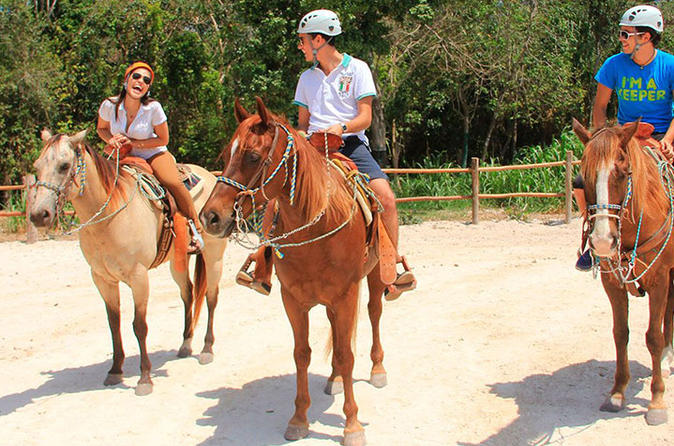 Horseback riding and cenote swim from cancun or playa del carmen in cancun 325863