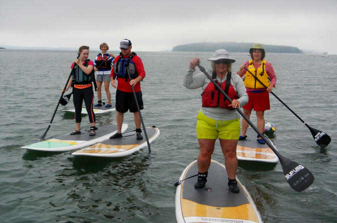 Stand up paddleboard tour in casco bay in brunswick 323958