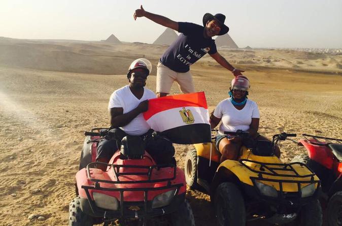 ATV at Giza Pyramids and Camel Ride during sunset