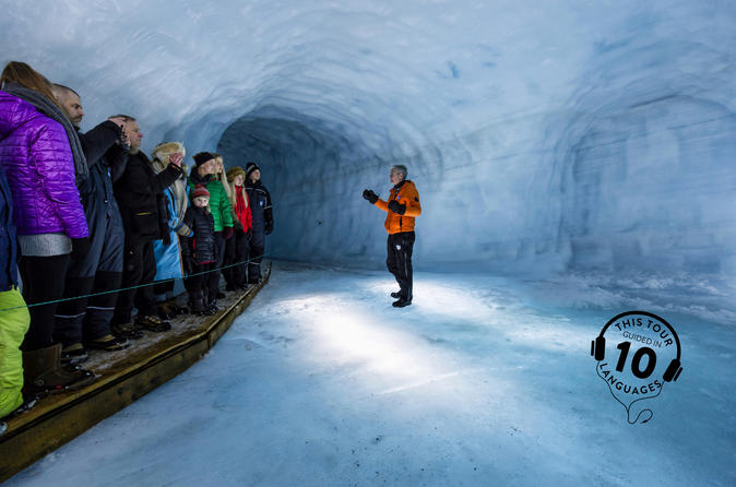 Into the Glacier Ice Cave Tour and Lava Cave Day Trip from Reykjavik with Live Guide and Touch-Screen Audio Guide