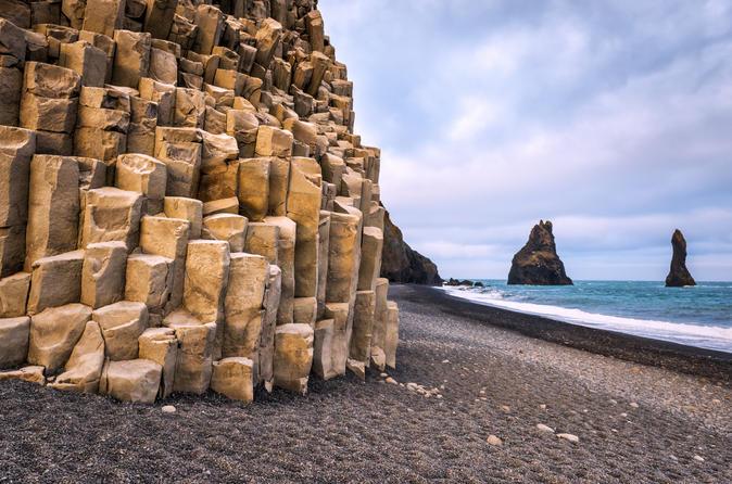 Viagem clássica diurna a costa sul de Reykjavik com guia de áudio touchscreen