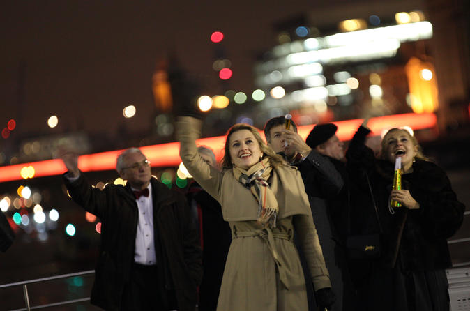 New Year's Eve London Fireworks Display and Sightseeing Cruise with Live Music
