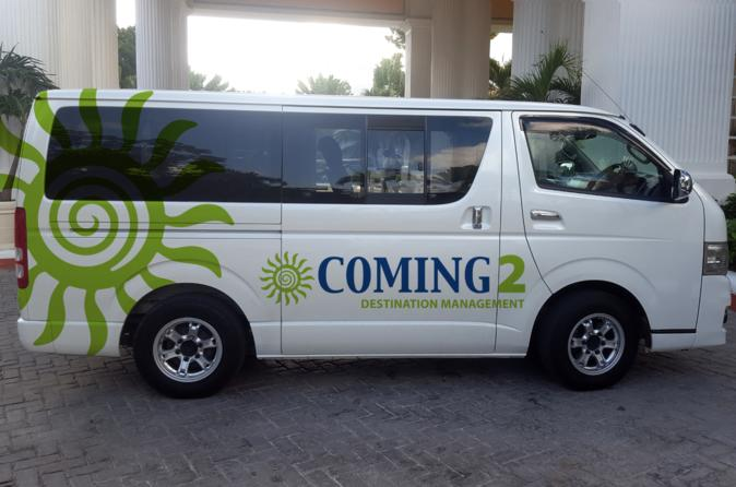 PRIVATE TRANSFER FROM MBJ AIRPORT TO MONTEGO BAY  HOTELS 4-14  PAX