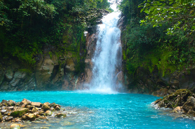 Celeste river waterfall, hike and hot springs tour from San Jose, Costa Rica