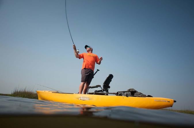 Kayak fishing tour in Punta Leona Puntarenas and crocodile observation