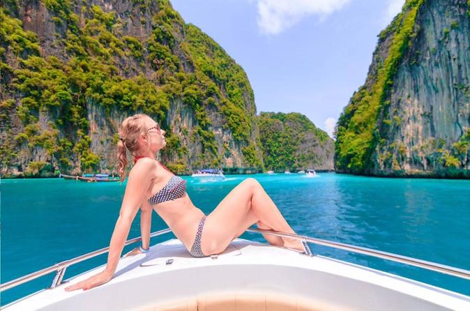 Ilhas Phi Phi de lancha saindo de Phuket