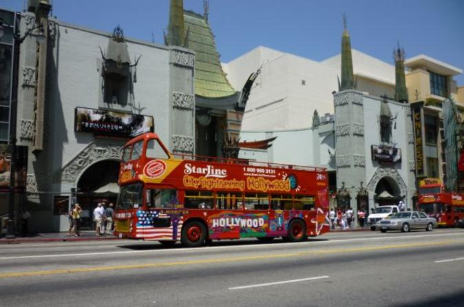 Hop-on hop-off tour in een dubbeldekker door Los Angeles