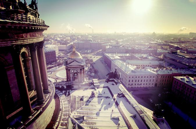 Private Winter Walking Tour of Saint Petersburg Including Traditional Tea and Russian Treats