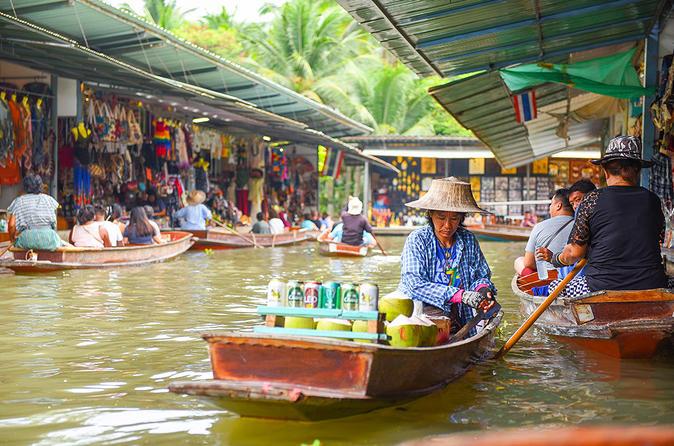 Excursão de um dia pelos mercados flutuantes de Damnoen Saduak, partindo de Bangcoc