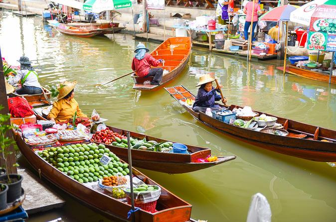 Excursão privada: Excursão de um dia pelos mercados flutuantes de Damnoen Saduak, partindo de Bangcoc