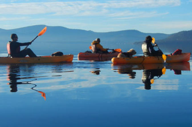 Guided kayak tour of sand harbor in tahoe city 358599