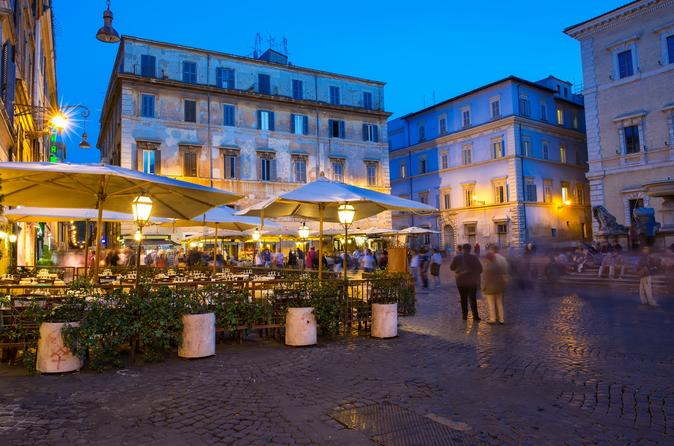 Evening Trastevere Walking Tour and Villa Dinner