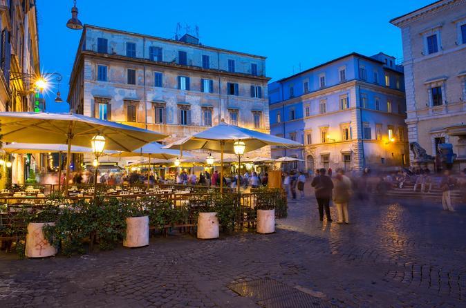 Excursão a pé por Trastevere à noite e jantar na vila