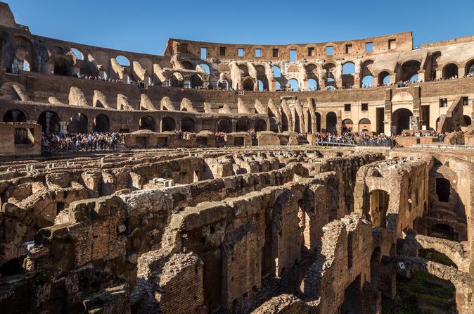 Excursão para Roma antiga e o Coliseu: Câmaras subterrâneas e Arena