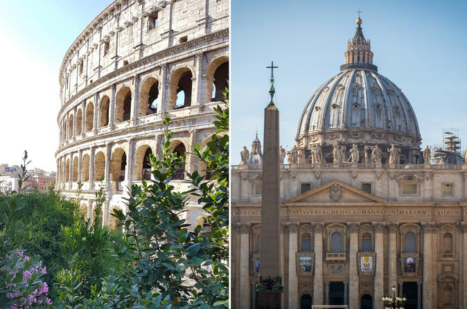 Rome Combo: Skip-the-Line Vatican Museums, Sistine Chapel, St. Peter's Basilica and Colosseum Walking Tour