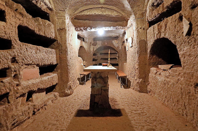 Skip the line crypts and roman catacombs small group walking tour in rome 639219