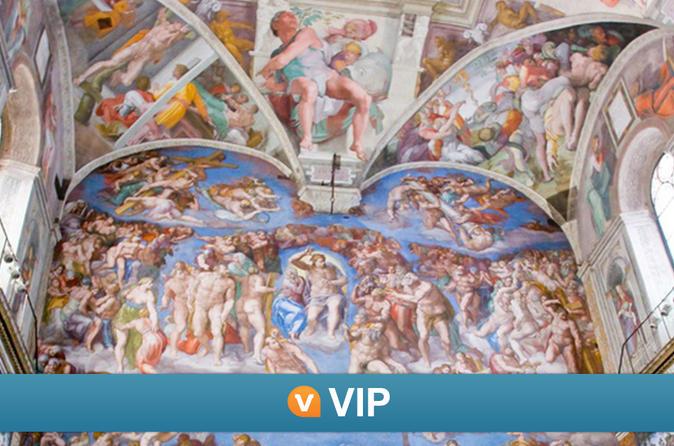 VIP da Viator: exibição privada da Capela Sistina e excursão para grupos pequenos às salas secretas do Vaticano