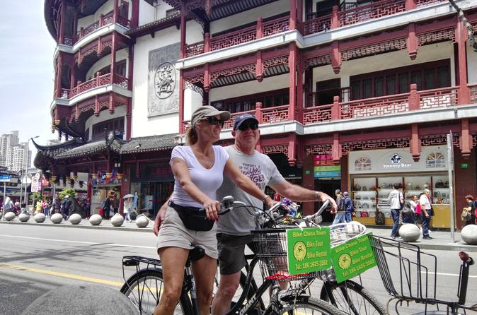 Shanghai Highlights Bike Tour With Authentic Lunch
