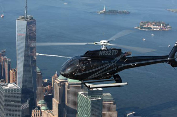NYC Helicopter Flight and Statue of Liberty Cruise