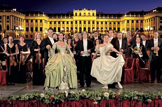Concerto noturno no Palácio Schonbrunn