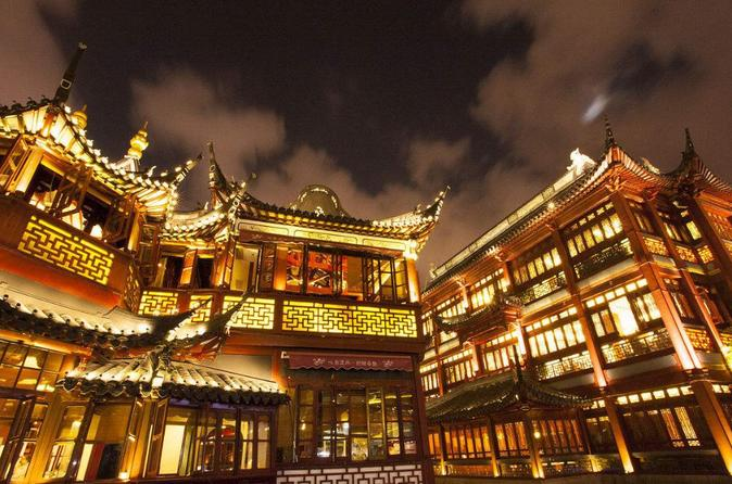 Private Tour: Evening River Cruise with Yu Garden Bazaar Night View with Dinner