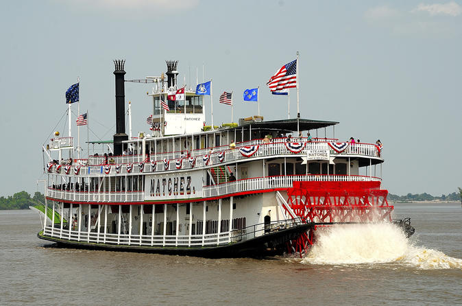 Brunchcruise met jazz op stoomboot Natchez in New Orleans