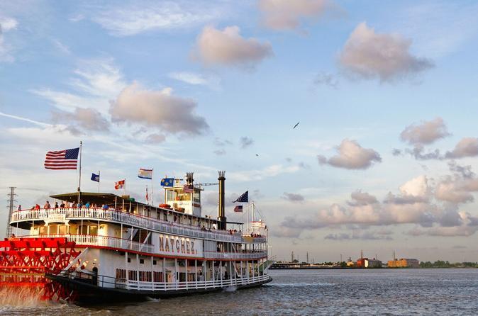 Cruzeiro-jantar com jazz no barco a vapor Natchez