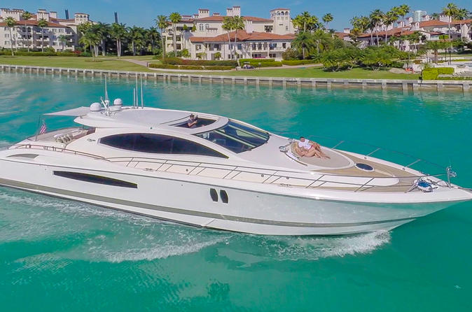 75' Lazzara LSX Boat Rental with Jet Ski in Miami