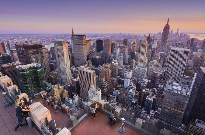 Top of the rock observation deck new york in new york city 741365