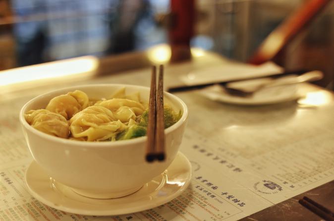 Secret Noodle and Wonton in Shanghai Alleyways including Local Beer