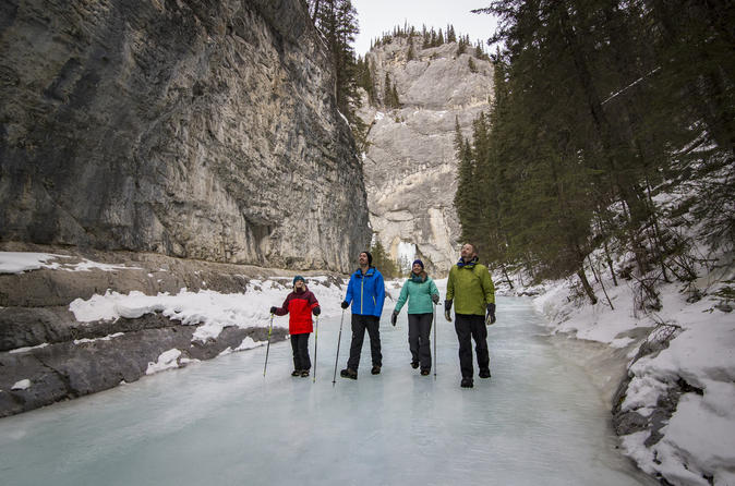 Grotto canyon icewalk in banff 578357