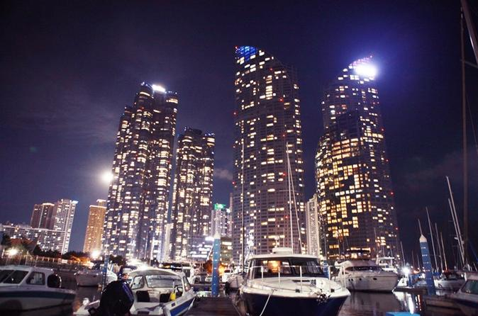 Busan marine city night tour including yacht cruise in busan 383981