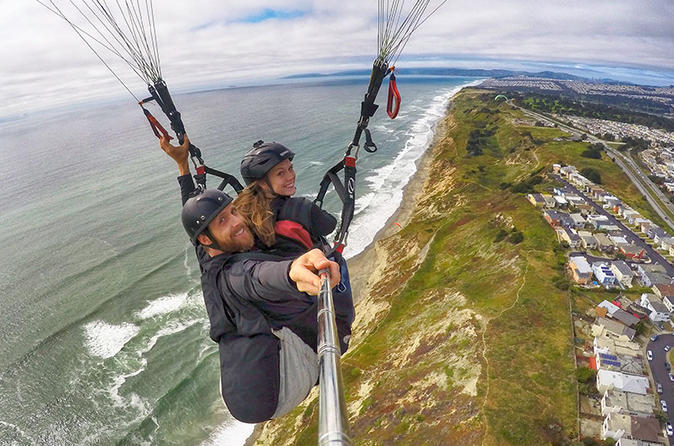 Paragliding tandem flight from the bay area in san francisco 358111