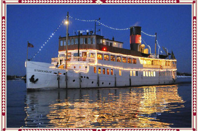 Christmas Cruise Dinner Buffet in the Stockholm Archipelago in Sweden Europe