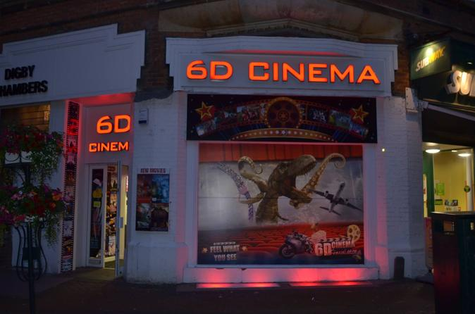 6d cinema ticket to virtual entertainment shortride movie in bournemouth 352591