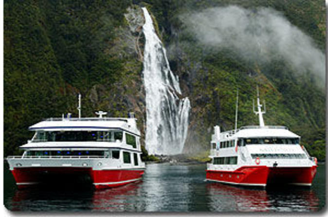 Milford Sound Red Boats