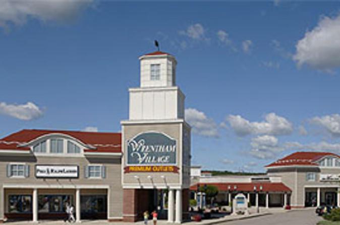 Transporte de ida e volta aos Wrentham Village Premium Outlets, partindo de Boston
