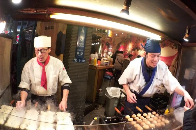 Evening Street Food Hopping Tour in Downtown Osaka