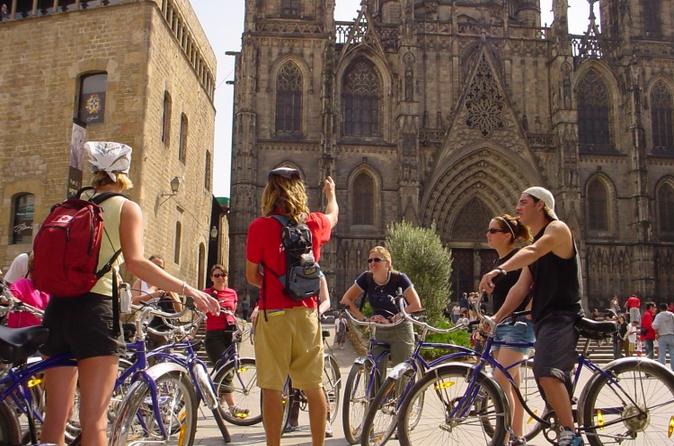 Excursão de bicicleta de meio dia em Barcelona