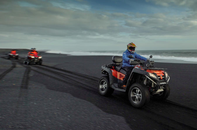 Quad bike tour on black lava sands from m rdalur in vik 383099