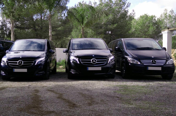 Ibiza mercedes benz van with english speaking chauffeur in ibiza 365387