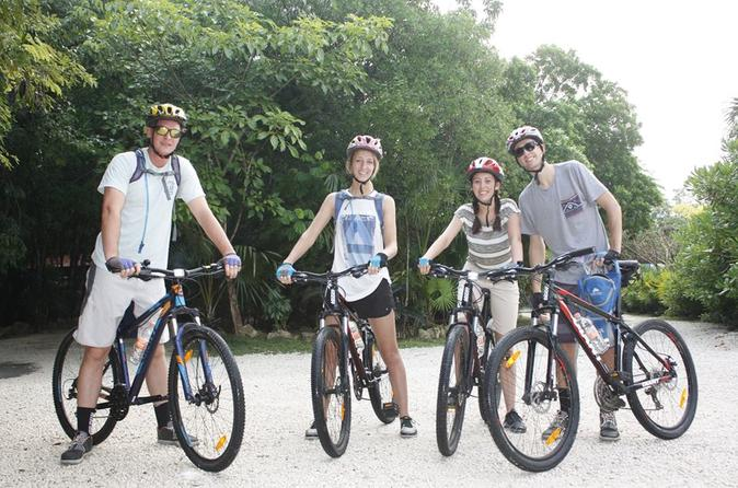Mayan jungle mountain bike tour for beginners with cenote swim in playa del carmen 395812