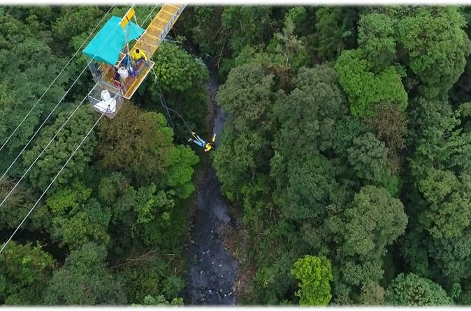 Bungee Jump With Canopy Ziplines And Long Superman Cable In The Way To La Fortuna