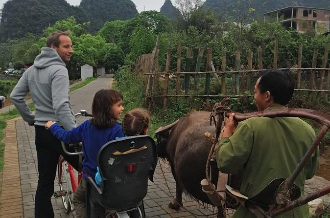1 Day Yangshuo Countryside Cycling and Yulong bamboo boat Private Day Tour