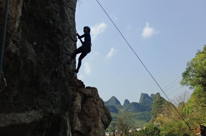 Half-Day Yangshuo Rock Climbing at Yulong river area Private Tour