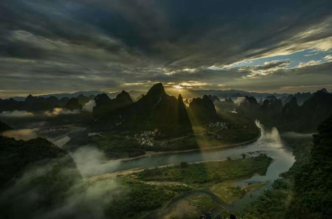Guilin Half-Day Yangshuo Xianggong Mountain Sunrsie Private Tour China, Asia