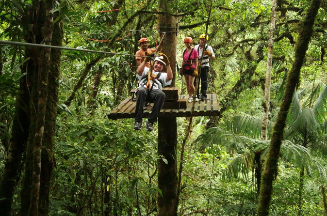 Canopy Tour San Luis with Tabacon Hot Springs